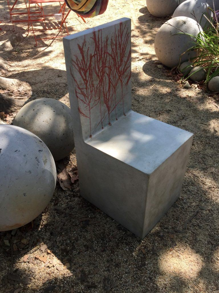 Red Grass Concrete Chair