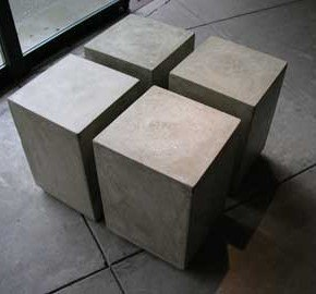 Square Concrete Seats