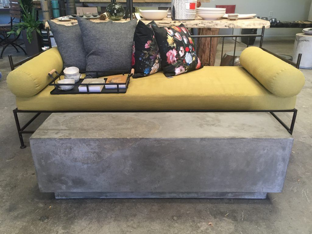 Concrete Bench or Coffee Table at The Gardener in Berkeley, CA