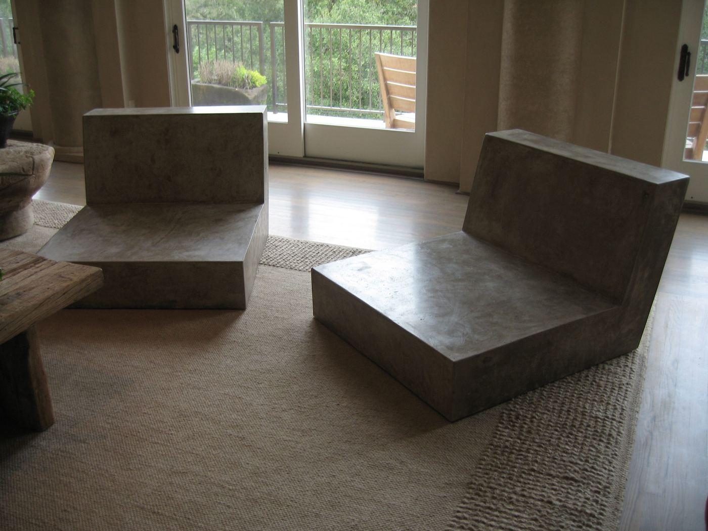 Concrete Chairs. Concrete Sanctuary Chairs